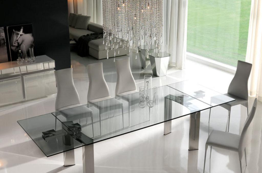 Tavolo daytona cattelan italia spazio schiatti - Tavoli in cristallo allungabili cattelan ...