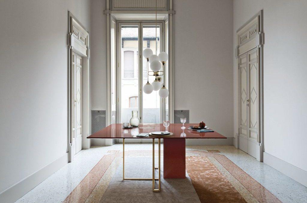 tavolo plinto quadrato meridiani