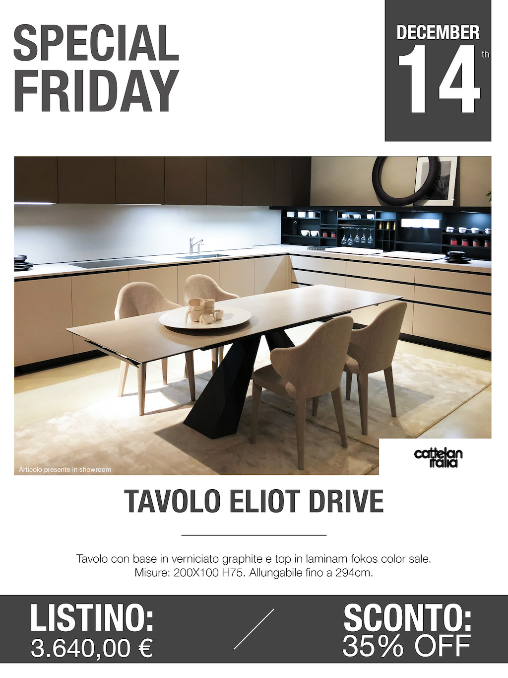 tavolo eliot drive Special Friday
