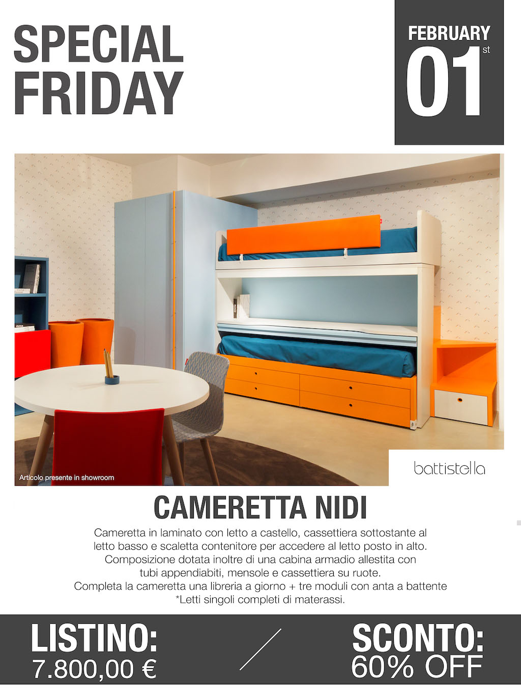 cameretta nidi battistella Special Friday
