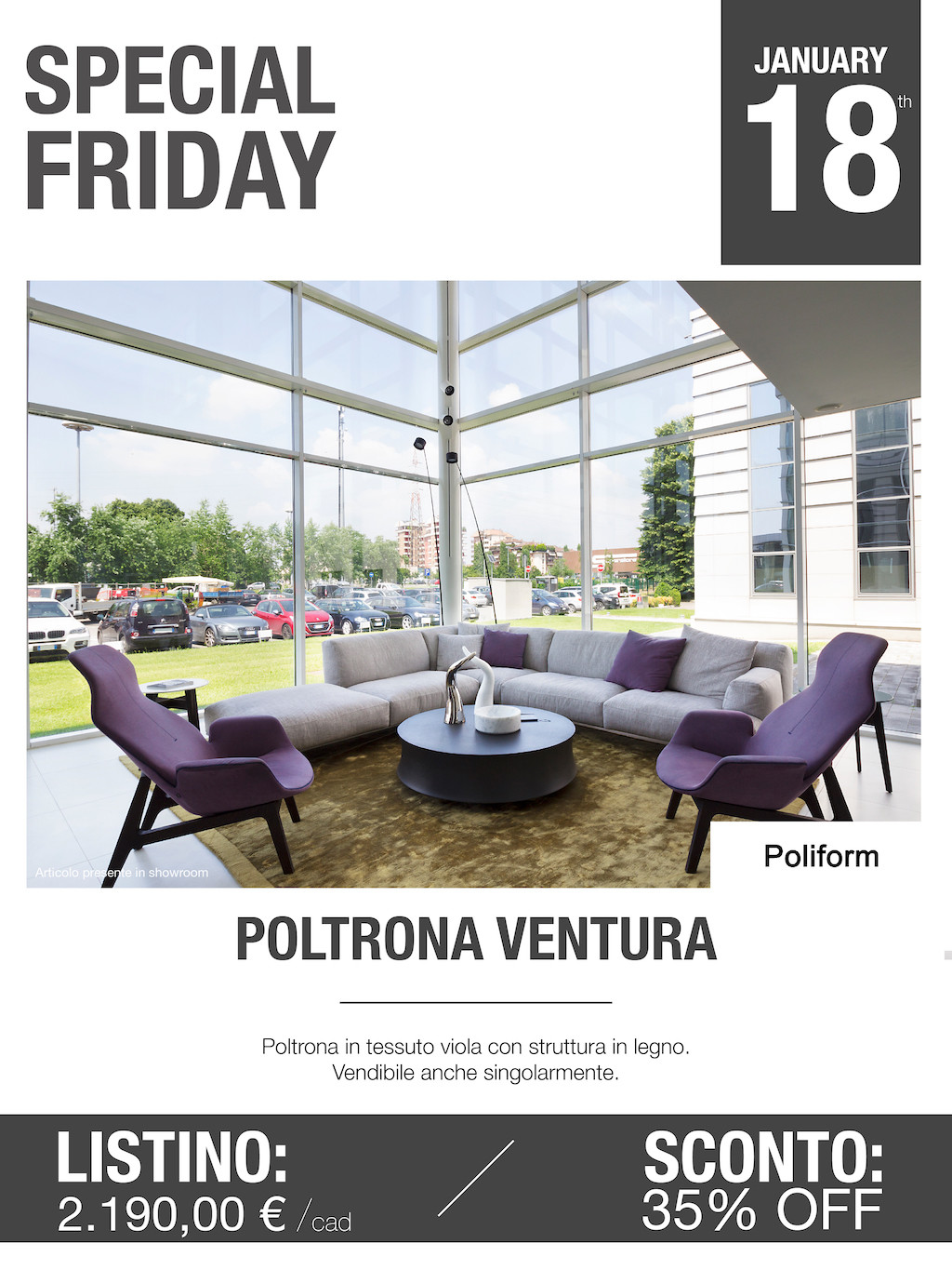 poltrona ventura poliform Special Friday