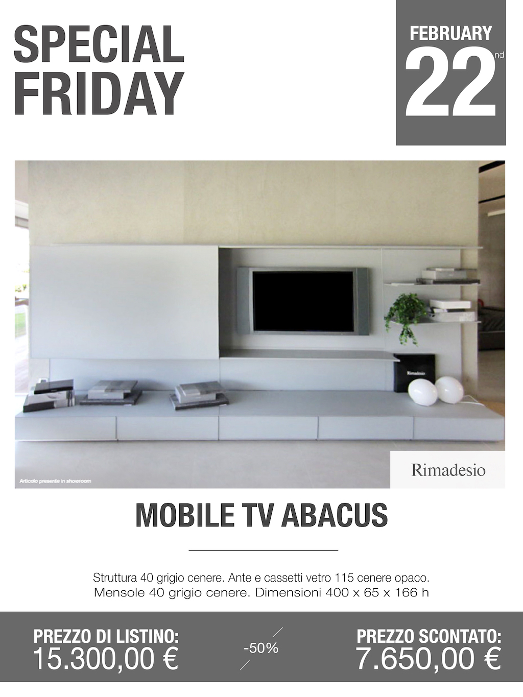mobile tv Abacus Rimadesio